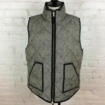 J. Crew Black & White Puff Vest  Xl Photo