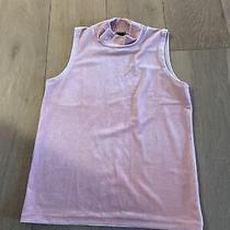 J Crew Blush Pink Velvet  Sleeveless Turtleneck Top Size Xs Fits Like S Photo