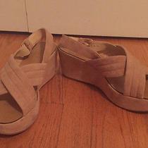 J. Crew Blush Suede Platform Shoes Sandals Heels 8.5  Photo