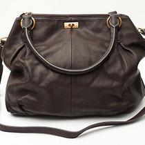 J. Crew Brompton Hobo Bag Leather Chocolate Dark Brown Purse Madewell Orig. 298 Photo
