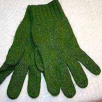 J.crew Cable Knit Gloves- Kelly Green  Photo
