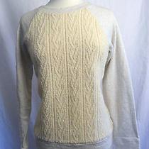 J Crew Cabled Sweatshirt Size Medium  Photo