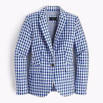 J Crew Campbell Blazer in Gingham Nwt 4 Iteme9060 Jacket   Photo