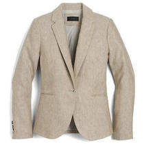 J. Crew Campbell Blazer in Linen Size 8 Photo