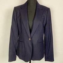 J. Crew Campbell Blazer in Navy Wool Size 12 Photo