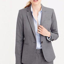 J Crew Campbell Blazer Jacket Super 120's Wool Size 2 Heather Flannel Gray B9675 Photo