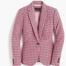 J Crew Campbell Blazer Pink Houndstooth  Nwt Size-4 F4500 Photo