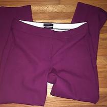 J Crew Campbell Capri Pant in Bi-Stretch Wool B0703 Burgundy Cabernet Size 2 Photo