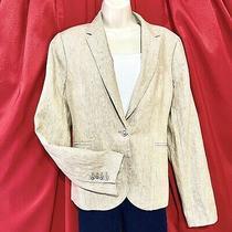 J.crew ... Campbell ... Linen Blazer Lined Jacket ... Beige ... Size 14 ... New Photo