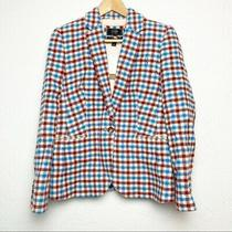 J Crew Campbell Wool Tweed Blazer Sz 8 Never Worn Plaid Photo