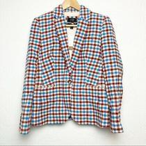 J Crew Campbell Wool Tweed Blazer Sz 8 Never Worn Plaid Photo