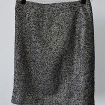 J. Crew Classic Pencil Straight Skirt Black Tuft With Silver Sparkle - 12 Photo