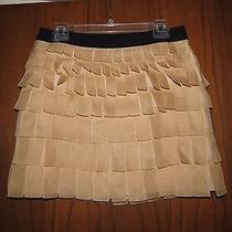 J.crew Collection Blush Sheer Silk Organza Layered Petals Mini Skirt 6 Photo