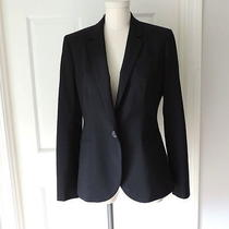 J Crew Collection Campbell Blazer 8 Black  B3231 Italian Wool Stretch  Photo