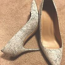 J Crew Collection Crackled Paint Heels 7.5 Photo