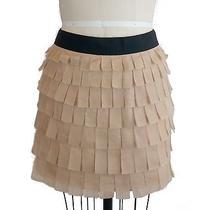 J Crew Collection Tiered Brique Skirt Sz 8 Blush Pink Petal Mini Silk Organza Photo