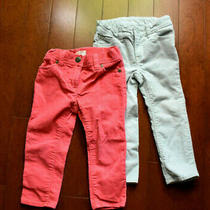 J. Crew Crewcuts Baby Gap Corduroy Cords Adjustable Pants Lot Pink Grey 2t Photo