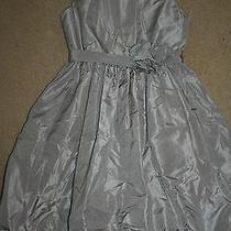 J.crew Crewcuts Girls' Silk Taffeta Gillian Dress Size 12 Grey Photo