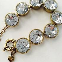J.crew Double Crystal Brulee Bracelet  (Clear ) Photo