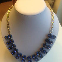 J.crew Double Crystal Brulee Necklace ( Royal Blue) Photo