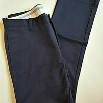 J Crew Essential Chino Pants Mens Size 32 X 32 Blue 100% Cotton Urban Slim Fit Photo