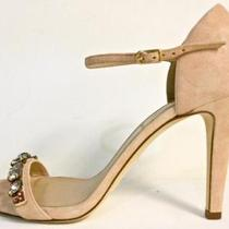 J Crew Evonne Jeweled Heels Size 7 Color Blush Stone Ships Free Photo