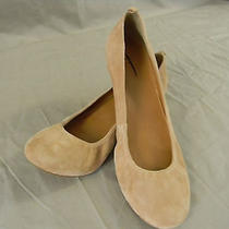 J. Crew Factory Anya Suede Ballet Flats Cece Size 9 in Blush Stone Photo