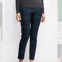 J Crew Factory Skimmer Pant in Black Watch Plaid Photo