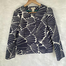 J Crew Fanfare Double Breasted Jacket / Blazer Navy Size 8 Photo
