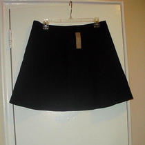 J Crew Fluted Skirt in Double Crepe Size 10 Solid  Black Lined  98.00   03394 Photo