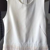 J. Crew Fun Fringe Top Sleeveless Small Marine Salt Blush Party New Nwt Sold Out Photo