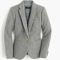 J. Crew Gray 100% Wool Campbell Gold Button Long Sleeve Blazer Jacket Size 10 Photo
