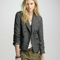 J.crew Gray Marled Thandie Double Breasted 100% Wool Knit Blazer Womens Size 12 Photo