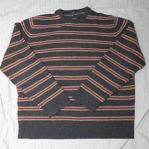 J Crew Gray Red and Beige Striped Sweater Sz Xl Photo