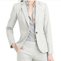 J.crew Gray Super 120s Wool Campbell Blazer Jacket Womens Size 8 Tall New  Photo