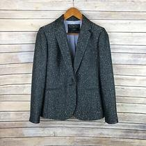 J. Crew Grey Holiday Herringbone Campbell Blazer in Sparkle Donegal Wool Size 4 Photo