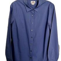 J.crew Haberdashery Womens Button Down Shirt Blue Long Cuff Sleeves Stretch M Photo