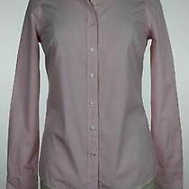 J Crew Haberdashery Womens Top Size Xs Pink Striped Button Down Shirt Cotton Photo