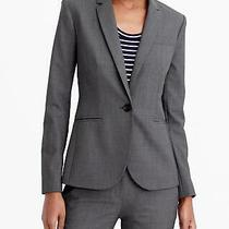 J. Crew Heather Gray Campbell Blazer in Italian Stretch Wool Tollegno 16 Xl Photo