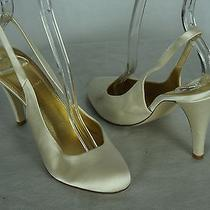 J Crew Heels Size 6.5 Cate Shoes Slingbacks Ivory Wedding Photo