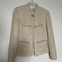 J Crew Ivory Cream White Tweed Jacket Blazer Size 00 Nwt on Trend Photo