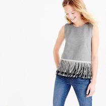 J Crew Knit Top With Fun Fringe Photo