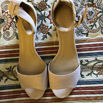 J.crew Laila Suede Wedge Blush Sandal Sz 9.5 Photo