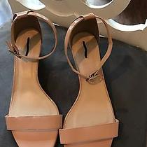 J Crew Laila Wedges Patent Leather Sandals Nude Blush Heels Pink Size 12 Photo