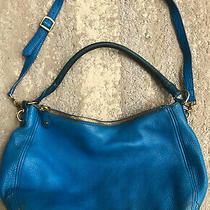 J.crew Leather Biennial Hobo Blue Grotto Leather Bag Purse Large Retail 325 Photo