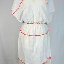 J Crew Lemlem Dolollo Patio Dress Size Medium White Neon Photo