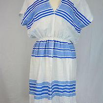 J Crew Lemlem Hilansha Patio Dress Size Medium Azure Photo