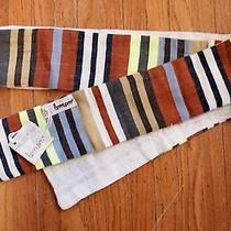 J.crew Lemlem Wanza Skinny Scarf (Item 33335) One Size Grey Rust New Nwt Photo