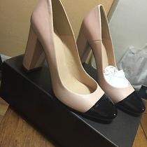 J Crew Lena Leather Pumps Heels Patent Cap Toe 8 Nwb Faded Blush F5587 Sold Out Photo