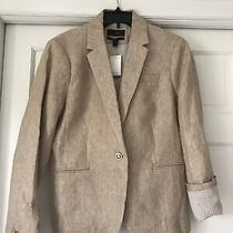 J Crew Linen Campbell Blazer Color Barley Nwt Size 14 Photo